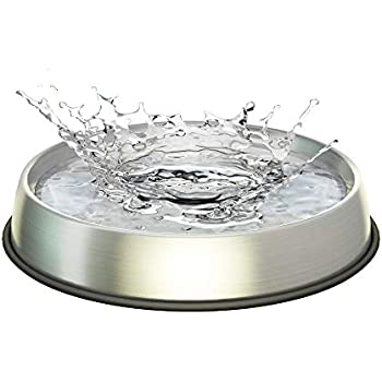 Dr. Catsby Water Bowl, Whisker Friendly, Stainless Steel, Non Skid, Dishwasher Safe, May Also Prevent Acne
