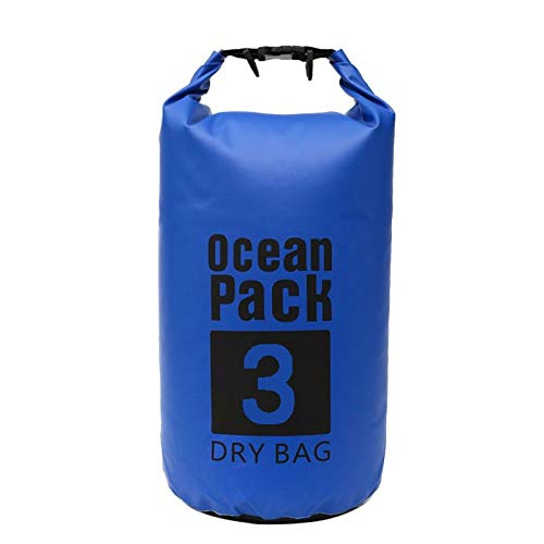 ☁ Janly Sports & Outdoors ☁ For Canoe Floating Boating Kayaking Camping Dry Bag Sack 3L Waterproof Backpack, Buy Now !