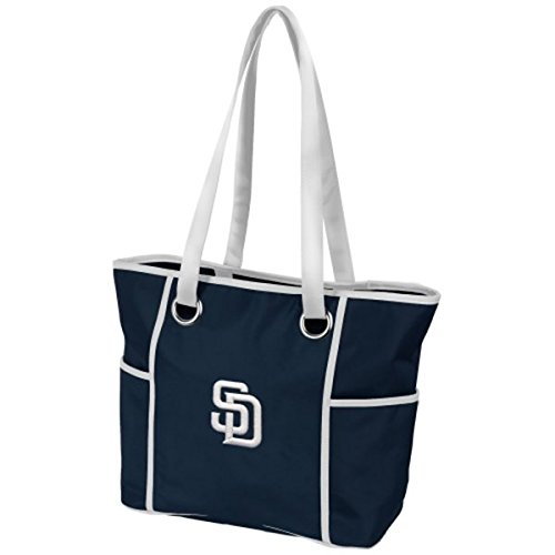 Charm14 MLB San Diego Padres Deluxe Tote Bag with Embroidered Logo