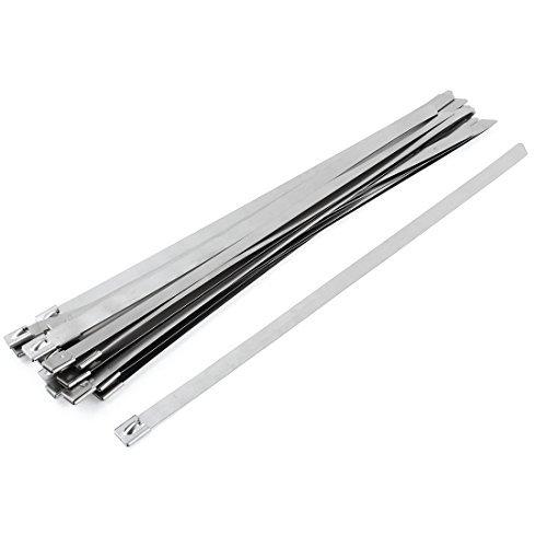 0.5' Pipe Clamp (20pcs 0,5 x 14 plana Bar Auto Locking aço inoxidável Zip Abraçadeiras)