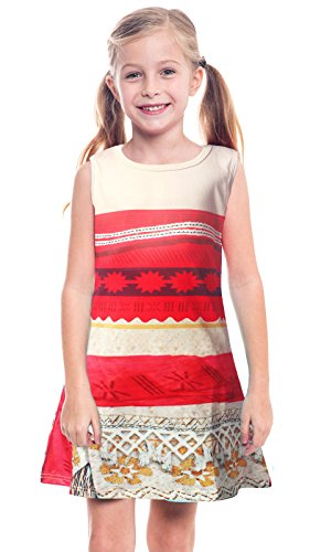 AmzBarley Little Girls Princesss Moana Costumes Dresses Casual Outfits Dress Up 3T