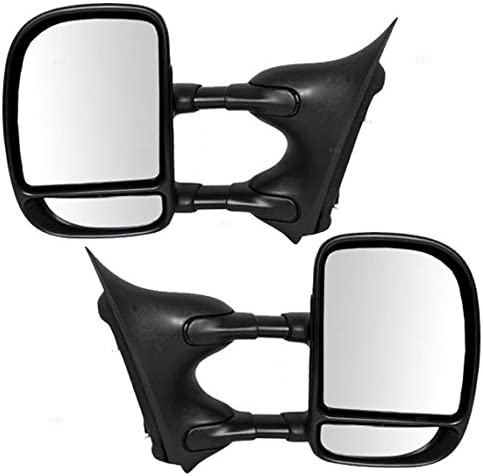 New FO1321226 Passenger Side Manual Operate Towing Mirror For F-Super Duty 99-07