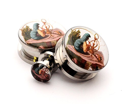 00g alice in wonderland plugs - 5