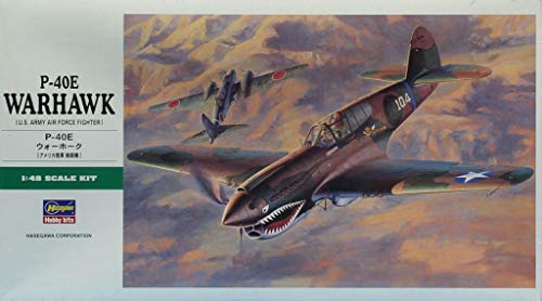 Hasegawa 1:48 P-40E Warhawk US Army Air Force Plastic for sale  Delivered anywhere in USA