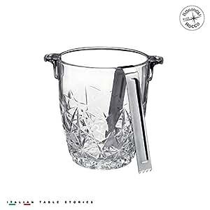 Bormioli Rocco Dedalo Ice Bucket with Tongs by Bormioli Rocco