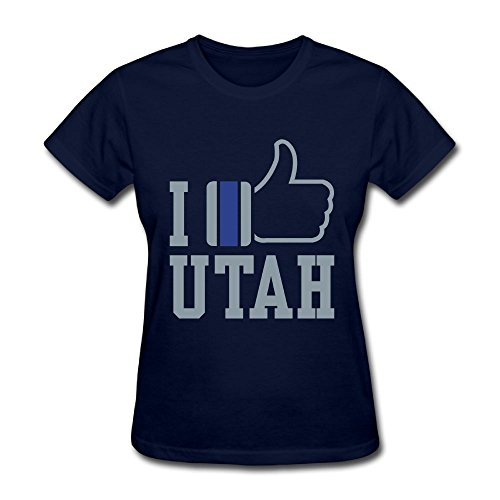 Unlongquhu I Like Like Utah Women's Short Sleeve Distinctive T ShirtSize XXL Color - Store Shore Jersey Hours