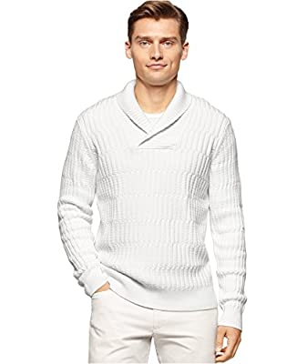 Calvin Klein Men's Textured Shawl Collar Sweater
