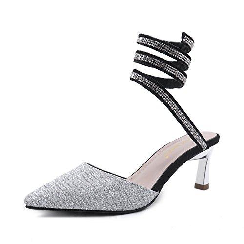 Pointes Torsade Tendance Femmes Sandales Mode Et Trente Argent quatre Pour De Chaussures xfSExqwRI