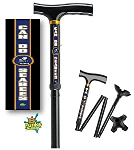 Adjustable Folding Walking Cane with Footed Cane Tip US Navy Sea Bees from BFunkyMobility