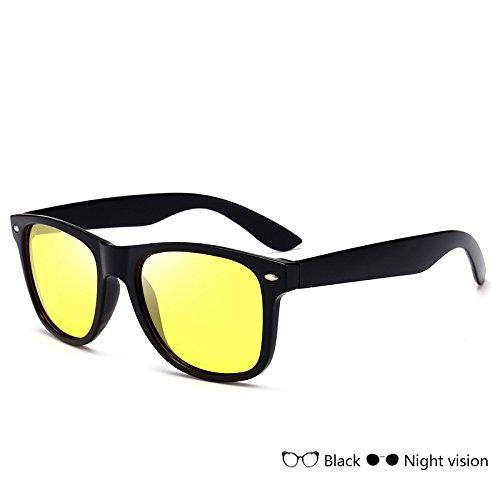 polarizadas hombre Gafas de nocturna hombre vision sol Sunglasses Gafas azul TL visión gafas conducción del gafas Vintage de para de Night xvfwS1q