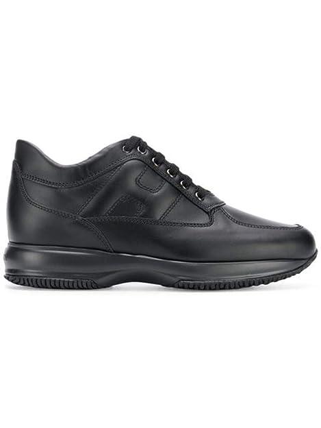 Hogan Interactive Sneakers Uomo Scarpa Allacciata Pelle Nera  Amazon.it   Scarpe e borse 93613fbd2c1