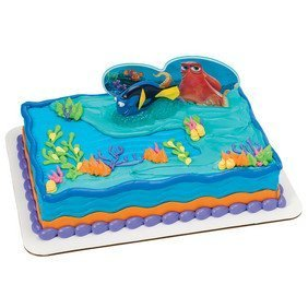 Finding Dory Fintastic Adventures Cake Decorating Set Party Supplies ()