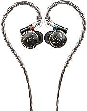 FiiO FD3 Earphones hi-res 1DD in-Ear Monitors MMCX Connector Flagship-Level DLC Diamond Diaphragm 4 Strands of high-Purity monocrystalline Copper Wires (Black)