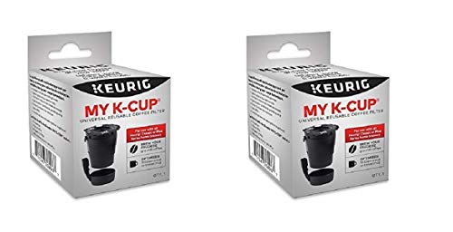 Keurig My K-Cup Universal Reusable Ground Coffee Filter New Model (2 Pack) Compatible with All Keurig K-Cup Pod Coffee Makers (2.0 and 1.0) by Keurig