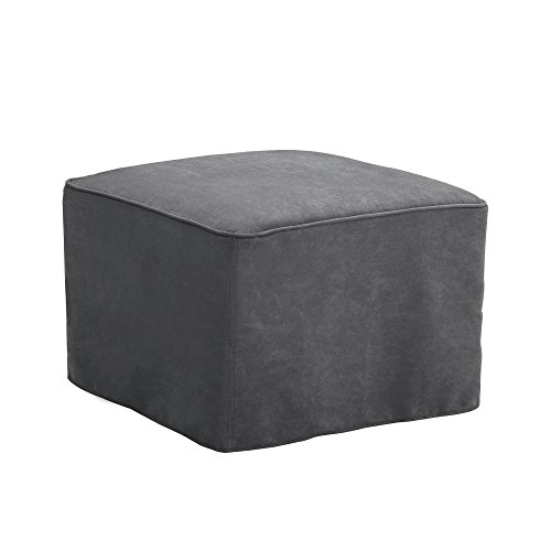 Baby Relax The Mackenzie Microfiber Plush Nursery Ottoman, Grey (For Chairs Sale Online)