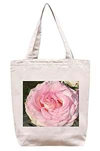 Una de primer plano de rosa repollo - algodón bolsa para herramientas de lona