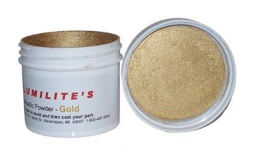 (Alumilite gold metallic powder)