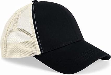 c9e13bc13c8 Amazon.com  econscious Re2 Trucker Style Baseball Cap (Black