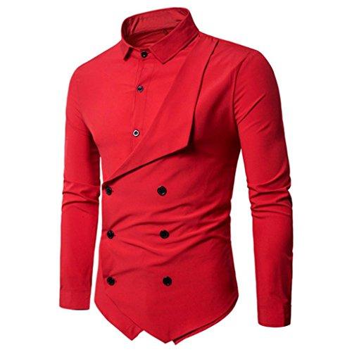 À Les Longues Manches Rouge Façon Chemise Hommes Aimee7 De BSq5pnxw