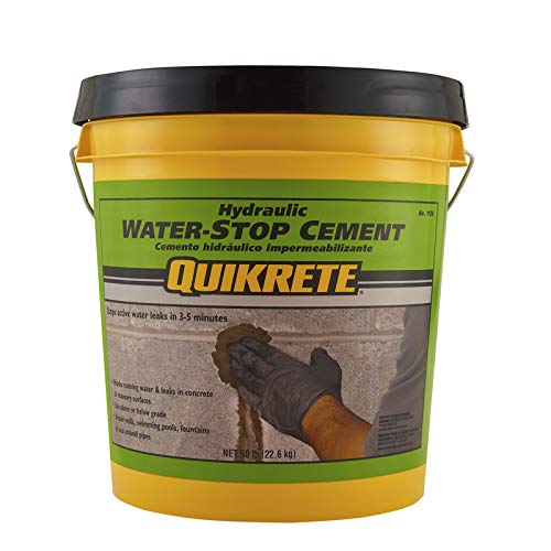 Quikrete 1126-50 Hydraulic Waterstop Cement, 50 Lb, Gray