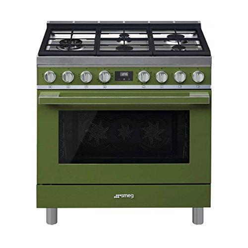Smeg-Portofino-CPF36UGMOG-36x-25-45-cu-ft-Oven-Freestanding-Pro-Style-Dual-Fuel-Range-Olive-Green