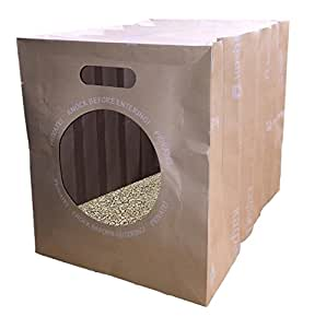 Kat Pack The Eco Friendly Biodegradable Travel Cat Litter Box, 4 Pack
