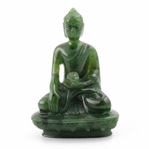 - Nephrite Jade Thai Buddha Carving - 2 Inch