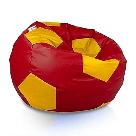 Italpouf - Puf de balón de fútbol Gigante. Puf de fútbol ecológico ...