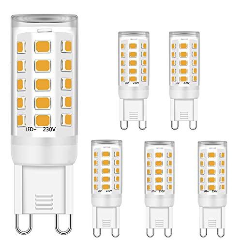 G9 Ledlampen, warmwit, 5 W, komt overeen met 28 W, 33 W, 40 W, G9 kristallen plafondlampen, G9 fitting LED-lampen, 2700…
