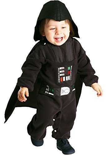 Toddler Baby Girls Boys Star Wars Yoda Darth Vader Princess Leia Halloween Fancy Dress Costume Outfit 12-24 Months 1-2 Years (Darth Vader)