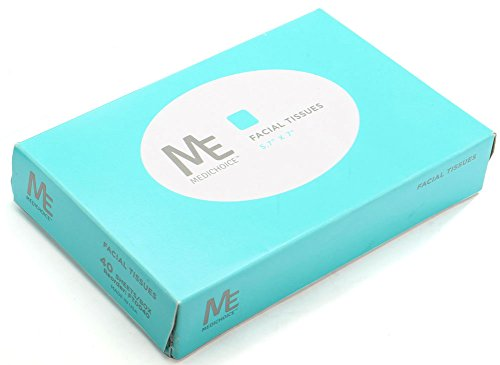 MediChoice Facial Tissues, Standard Bedside, Soft, Recycled Paper, 2 Ply, 5.7 Inch x 7 Inch, 40 Sheets Per Box, 200 Boxes Per Case (Case of 8000) by MediChoice