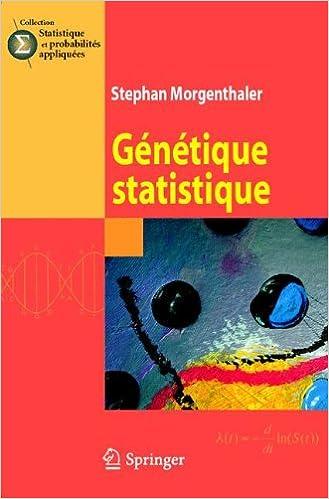 Génétique statistique pdf epub