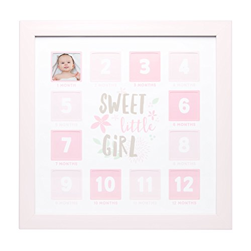 Kate Milo First Year Frame, Baby Registry, Baby Shower Gift, Pink