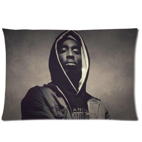[Coolest Retro Tupac Fuck Pattern Custom Zippered Rectangle Pillow Case Pillowcase Standard Size:16