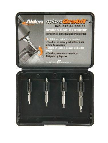 Alden 4507P Micro Grabit Broken Bolt Extractor 4 Piece Kit N