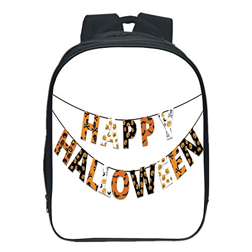 Vogue Pressure Relief Spine Kids School Backpack,Halloween,Happy Halloween