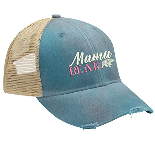 (Piper Lou - Mama Bear Trucker Hat with Snapback Enclosure - Teal)