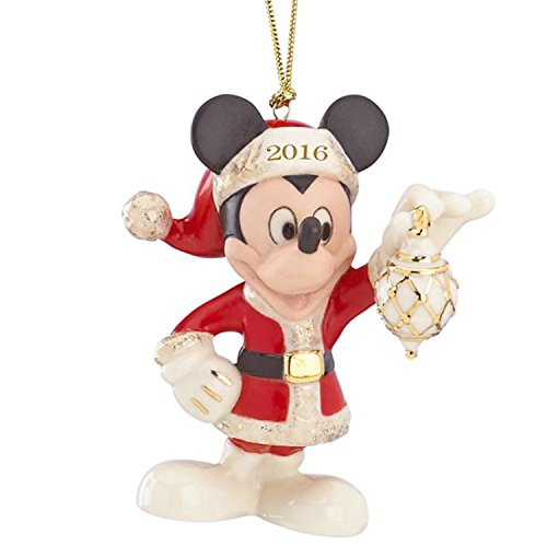 Lenox Disney 2016 Annual Mickey Ornament Decorate The Season Mouse Figurine