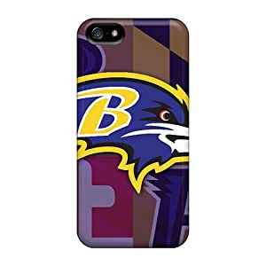 Scratch Protection Hard Phone Case For Iphone 5/5s With Support Your Personal Customized High-definition Baltimore Ravens Series VIVIENRowland