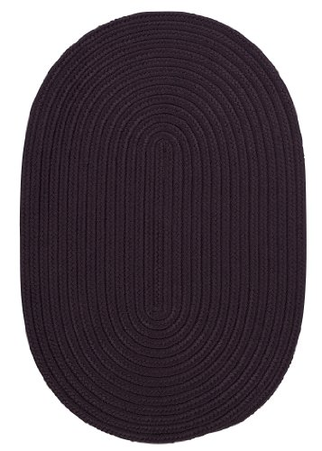Boca Raton Polypropylene Braided Rug, 10-Feet by 13-Feet, Eggplant ()