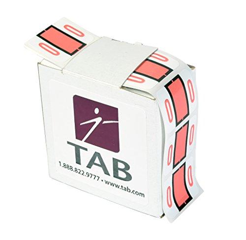 TAB CompuColor Numeric Label Roll, 0, Salmon, 1