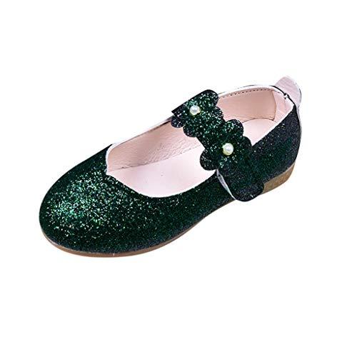 Kukiwa 초 예쁜 여자 신발 무지 프린세스 슈즈 정장 입원 의식 슈즈 걸스 신발 레저 신발 키즈 정장 미끄럼 방지 신고 벗고 하기 쉬운 사이틀 입학 식 다니는 생일 선물 / Kukiwa Super Cute Girls Shoes Plain Princess Shoes Formal Entrance Form...