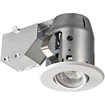 3  Dimmable Downlight Swivel Spotlight Recessed Lighting Kit IC Rated with LED Bulb  sc 1 st  Amazon.com & Amazon.com: 3