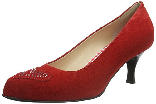 Chiusa Diana Diavolezza Rosso Tacco Red Donna Scarpe col Punta qrTPwZqR