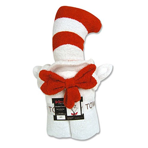 [Trend Lab Dr Seuss Hooded Towel, Cat in the Hat] (Dr Seuss Baby Halloween Costumes)