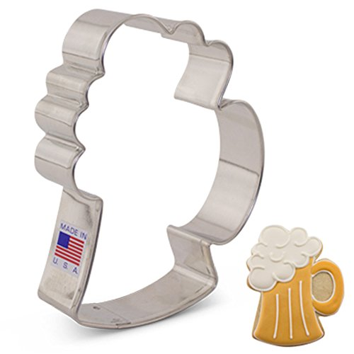 Beer Mug/Stein Cookie Cutter - 4.25 Inch - Ann Clark - US Tin Plated Steel