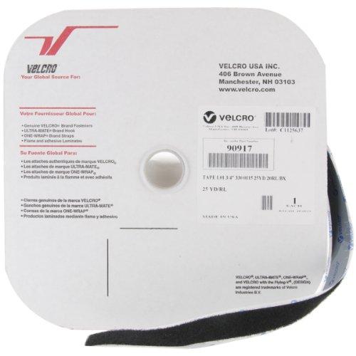 Velcro Sticky Back 3/4-Inch by 25-Yard Loop Tape, Black ()