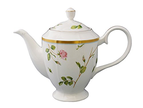 Adeline Bone China By Narumi, Blooming Rosy Lane Coffee Pot W/ Cover ()