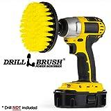 5 Inch Diameter Drill Powered Scrub Brush with Quarter Inch Quick Change Shaft