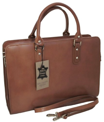 Bag CTM Briefcase Italy Women's Made Leather 36x27x11cm Labour 100 Genuine Mud Handbags by in wqT15qC